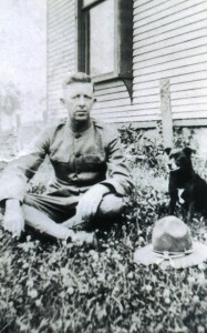 George C. Haefner, WWI. Date Unknown. Location Unknown.