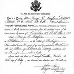 Haefner, George C. Honorable Discharge Record