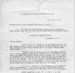 This letter was received by all members of the 13th Engineers to commemorate their service.