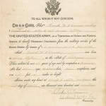 Frank O'Connor Honorable Discharge Record
