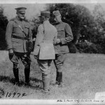 Lt. Faye Palmer (far left) with General William Haan, commander of the 32nd Division (far right)