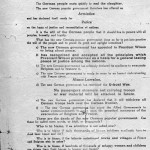 A document describing the Declaration of Peace from the German Government