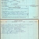 A record detailing Harold Hellyer's service in France.