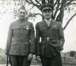 George Alfred Lindauer and his son, both in their military uniforms.