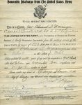 Honorable Discharge for Edward Weisinger.