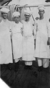 Bakers who worked with Harry Fox on the USS Indiana.